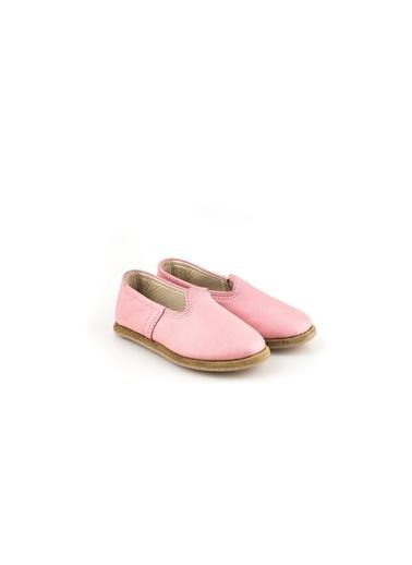 Aintap %100 Hakiki Deri Çocuk Ayakkabı Pembe Gaziantep Yemeni Pembe